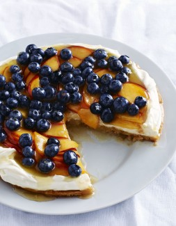 Georgia Blueberry Peach Flan